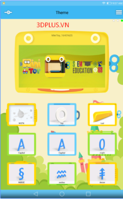 Phần mềm máy in 3D minitoy đã hỗ trợ Android